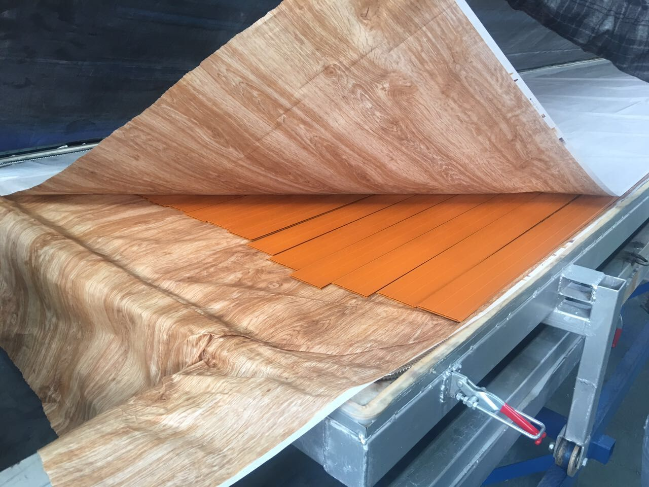 Wood Effect Sublimation Line for Aluminum Profile& Sheets